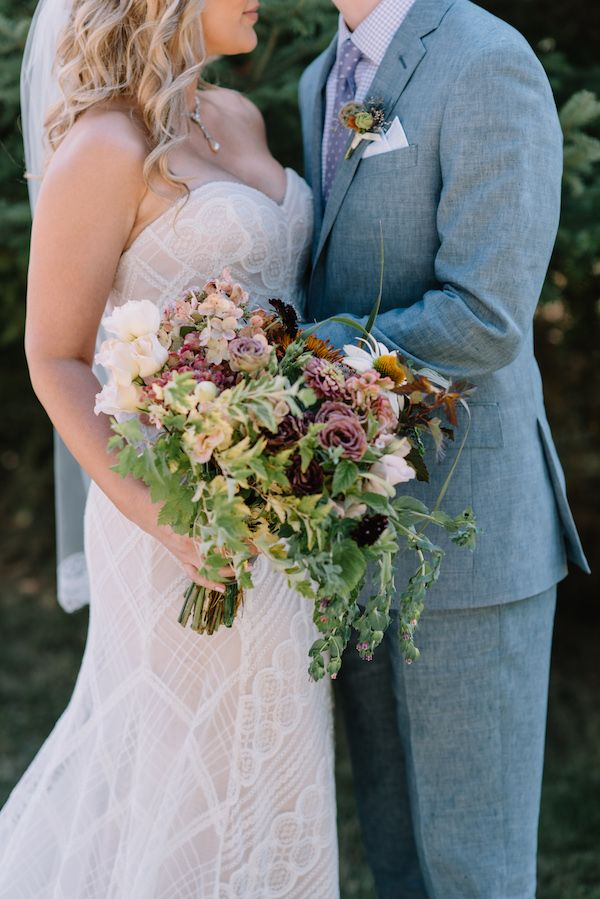 Broadturn Farm Maine Wedding bridal bouquet, captured by Darling Photography