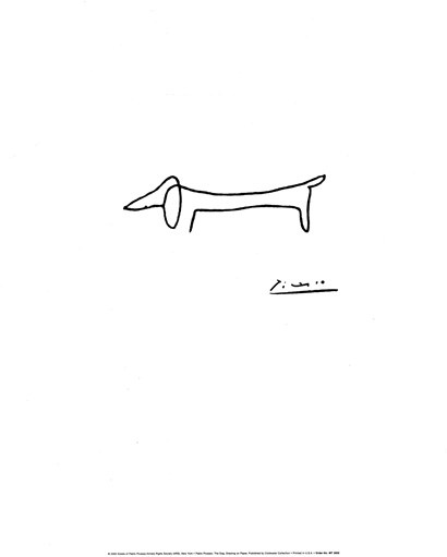 The Dog by Pablo Picasso art print