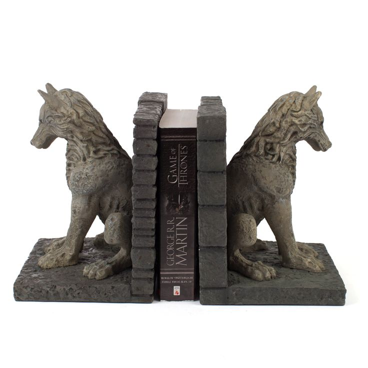 Game of Thrones Direwolf Bookends - for Living room or dining room cabinets