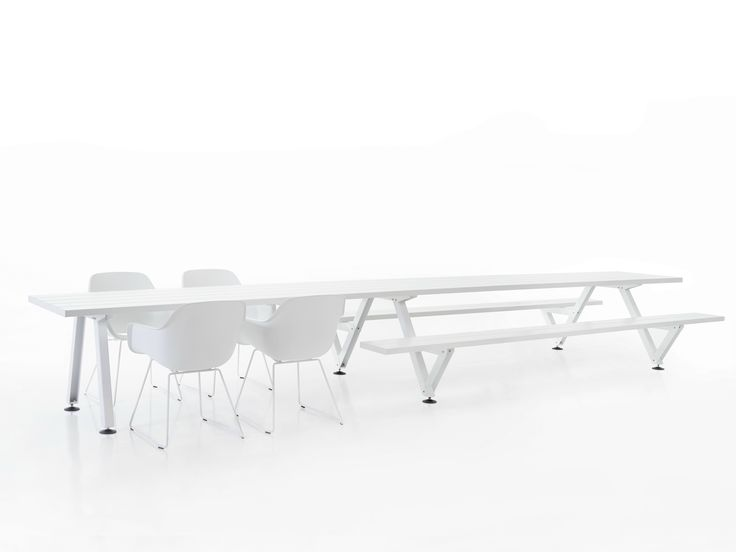 Lovely Rectangular glass fibre table Marina Collection by Extremis design Fattorini Rizzini Partners