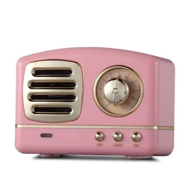 Vintage portable bluetooth speaker