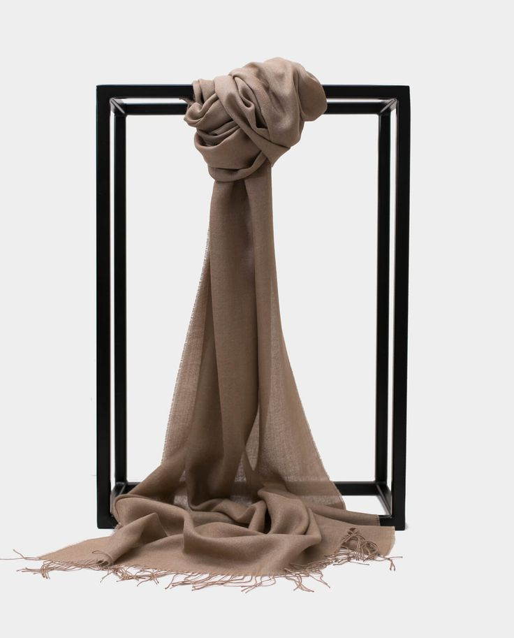 Alpaka Jedbaw Szal Exclusive Inti Jasny beż Shawl Scarf Light Beige 70% BABY ALPACA + 30% SILK Made in Peru