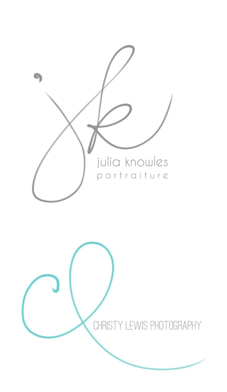 Handwritten Initials, Custom Logo, photoshop brush, transparent .png files photography business. $49.50, via Etsy.