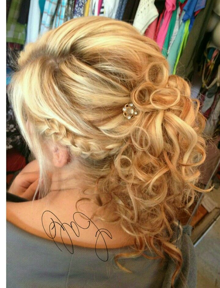 Bridal   Mother of the groom hairstyles, Updos for medium ...