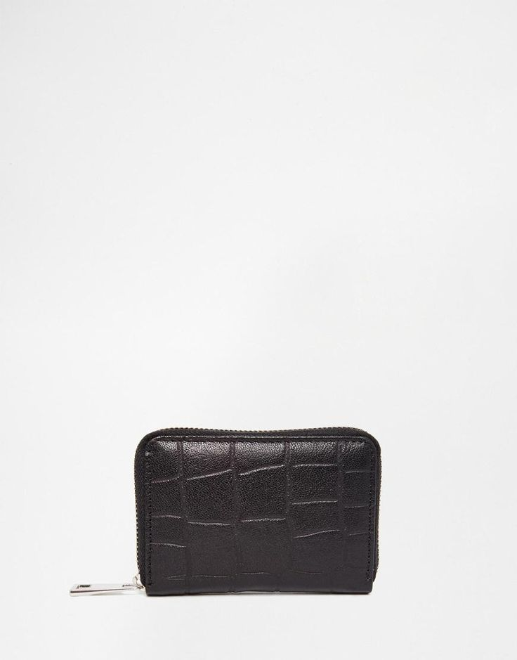ASOS | ASOS Embossed Leather Coin Purse at ASOS