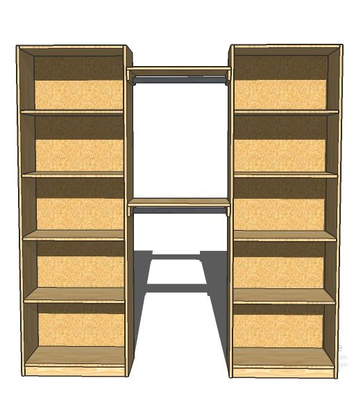 Ana White | Build a Simple Closet Organizer | Free and Easy DIY Project and Furniture Plans