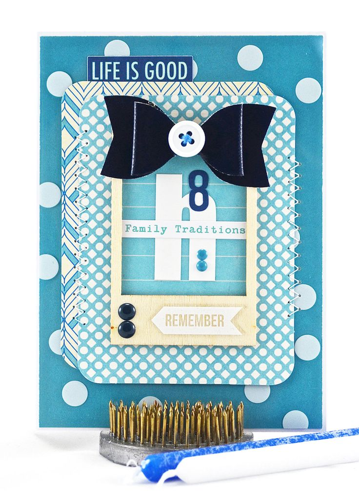 Hanukkah Card - Eight Nights of Lights - Festival of Lights - Blue and White - Happy Chanukah - Holiday Card - Jewish Holidays 2015 - pinned by pin4etsy.com