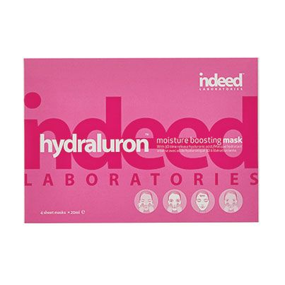 Indeed Labs™ Hydraluron™ Moisture Boosting Mask THE SCOOP: Dry, dehydrated skin receives an infusion of moisture—in just 15 minutes. Thanks to its timed-release hyaluronic acid, your complexion looks softer, smoother and plumper with every use.