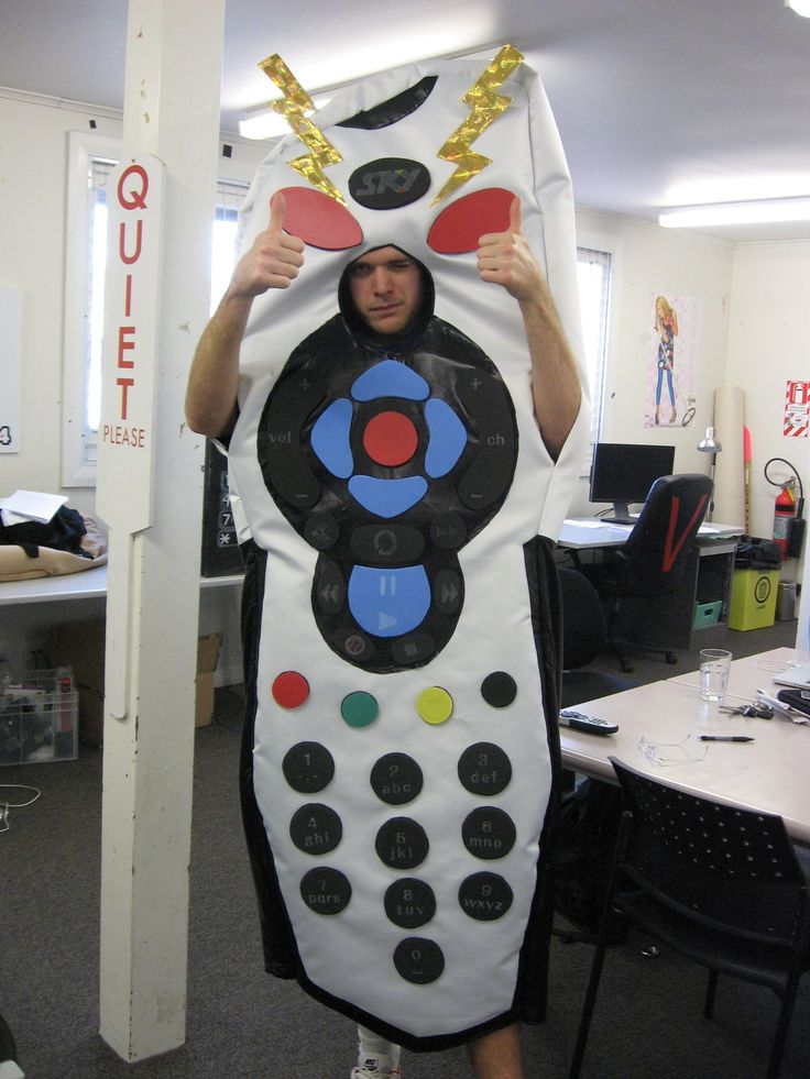 An evil remote control costume for a movie parody on Jono and Ben at Ten.