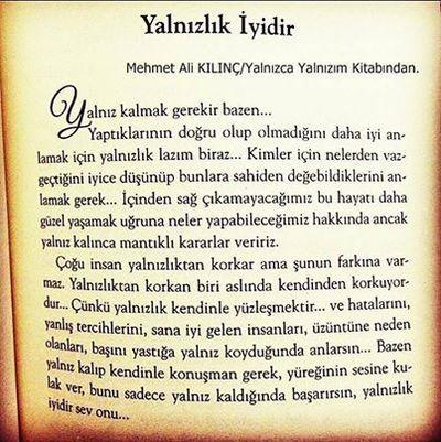 Yalnızca Yalnızım - Mehmet Ali Kılınç