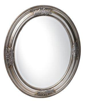 Tükör RUDE 52x62cm ovális ezüst | JYSK