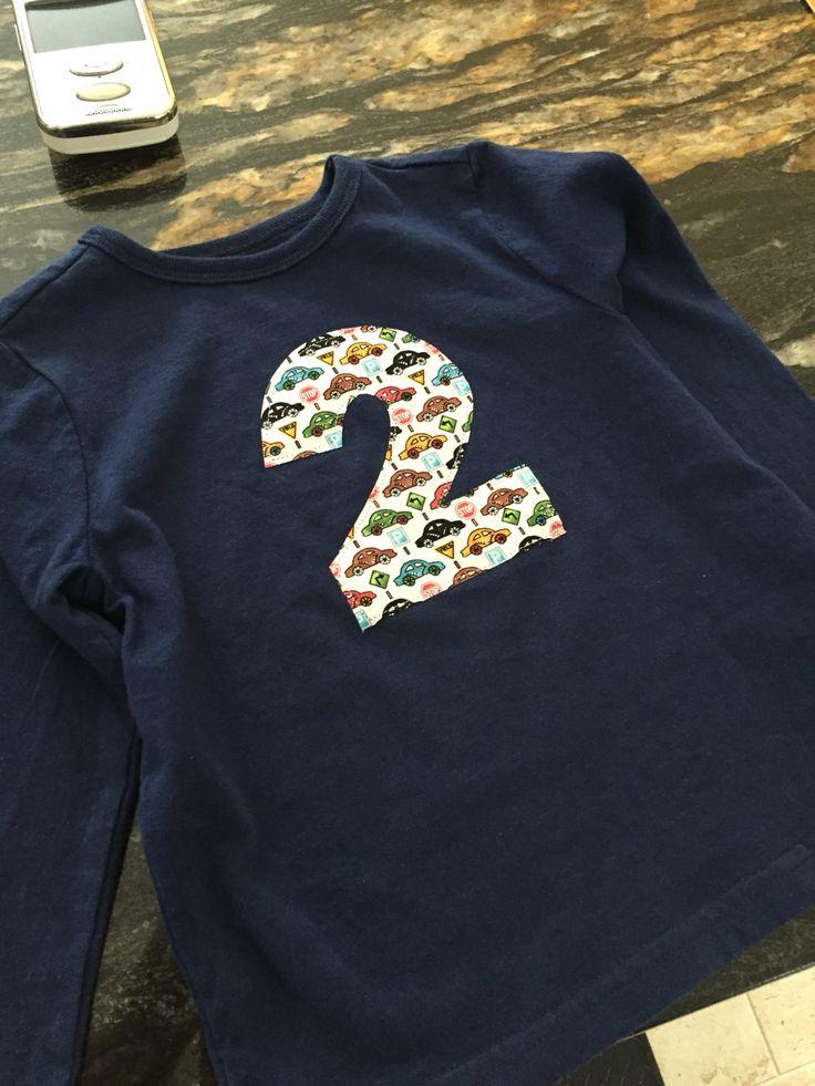 Birthday shirt!  DIY Appliqué