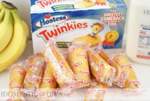 Hostess Twinkies are Back!  Twinkie Banana Trifle Recipe