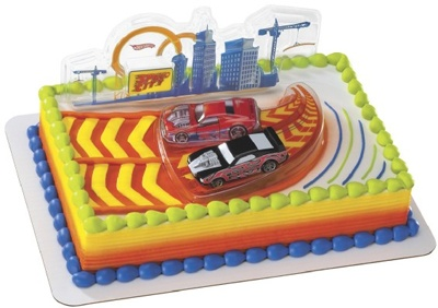 Hot Wheels Cake Decorating Kit (1), FREE shipping offer, 50% off tableware, and same day order processing from Birthday Direct - Cake Decorating Kits