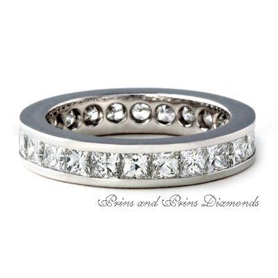 Princess cut full eternity ring