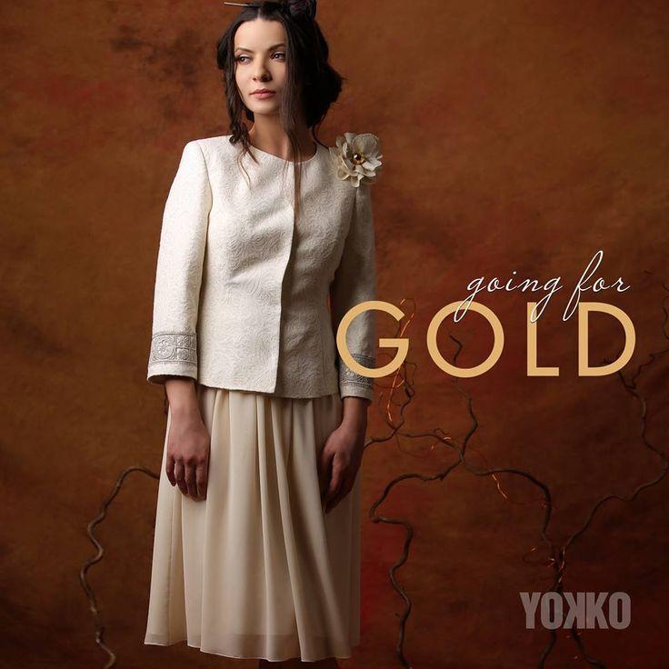 GOLD Summer 17   YOKKO #jacket #woman #cotton #brocade #gold #fashion #style #yokko #summer17 #madeinromania