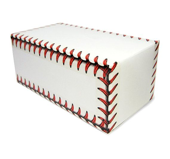 How fun! Packing tape that makes 'Baseball stitches' design by Harvard5f on Etsy