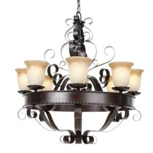 8-Light Chandelier with Vintage Amber Glass - Oil Rubbed-HD-MA44442246 at The Home DepotAmber Glass