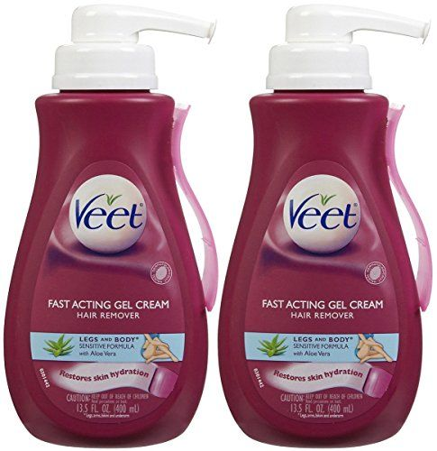 Veet Hair Removal Gel Cream, Sensitive Skin Formula 13.5 oz (Pack Of 2) | Beauty gift outlet