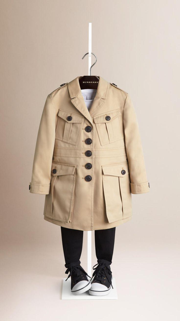 Manteau de style militaire en coton | Burberry