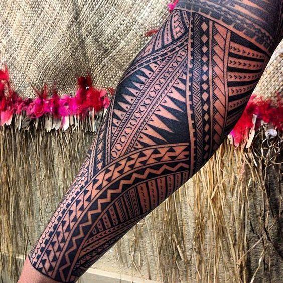 Tongan full sleeve tattoo #polynesian #tattoo