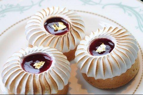 Lemon Raspberry Meringue Tart