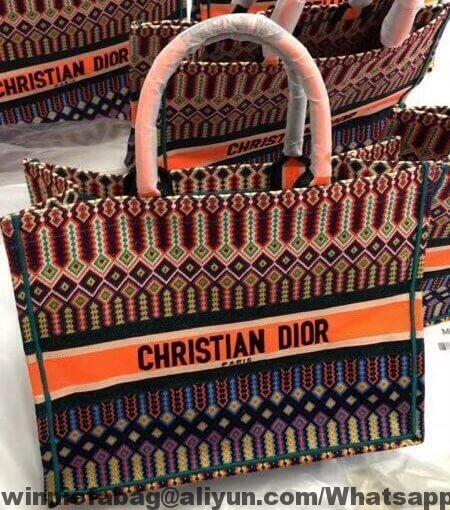 93e84a399 Dior Book Tote Bag in Multi-coloured Embroidered Canvas 2018 | Dior ...