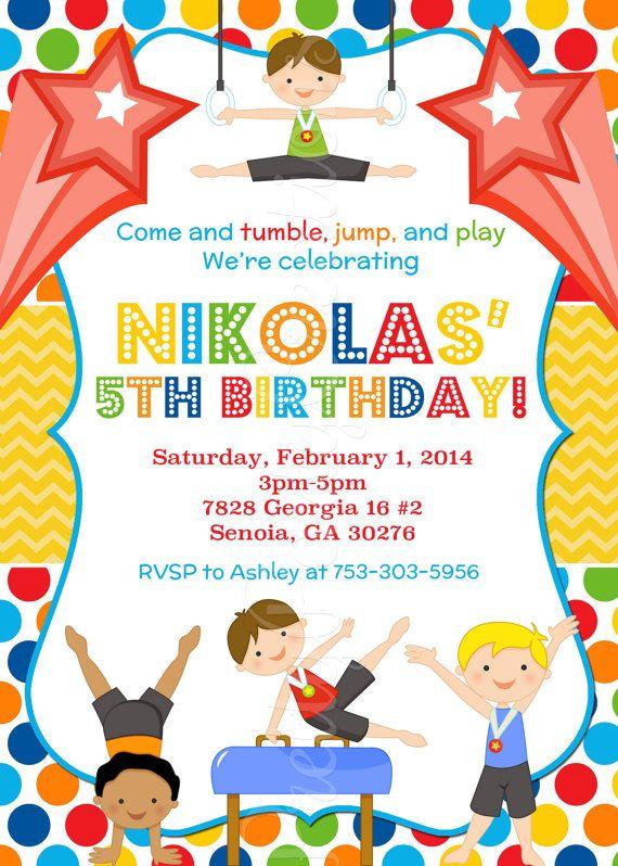 Gymnastics Party Invitations was good invitations layout