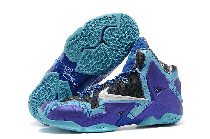 hot sales 55cb8 35cd9 ... Nike Lebron 11 shoes at the lowest price here. Newest LeBron 11 Hornets Court  Purple Reflective Silver Vivid Blue 626374 500