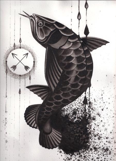 25 best arowana art images on pinterest art tattoos artistic tattoos and fish art. Black Bedroom Furniture Sets. Home Design Ideas