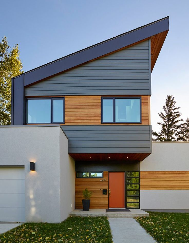 Light wood trim exterior contemporary with exterior cedar - Types of exterior finishes for homes ...