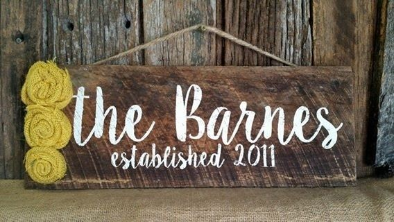 Personalized Barnwood Last name signs Housewarming gift porch ...