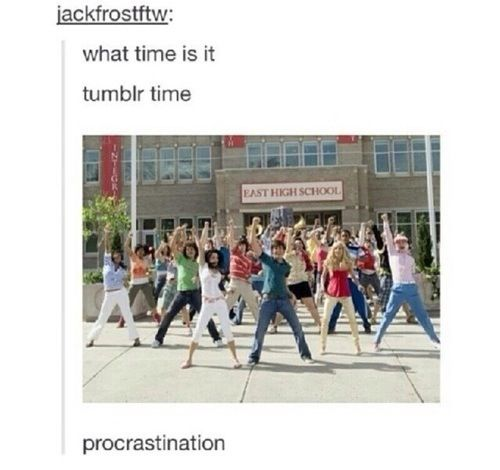 "OMG this is just great!!! I always end up singing that song when someone says ""What time is it?"" XD Forget summer, procrastination is more fun! *starts dancing down the hall singing*"