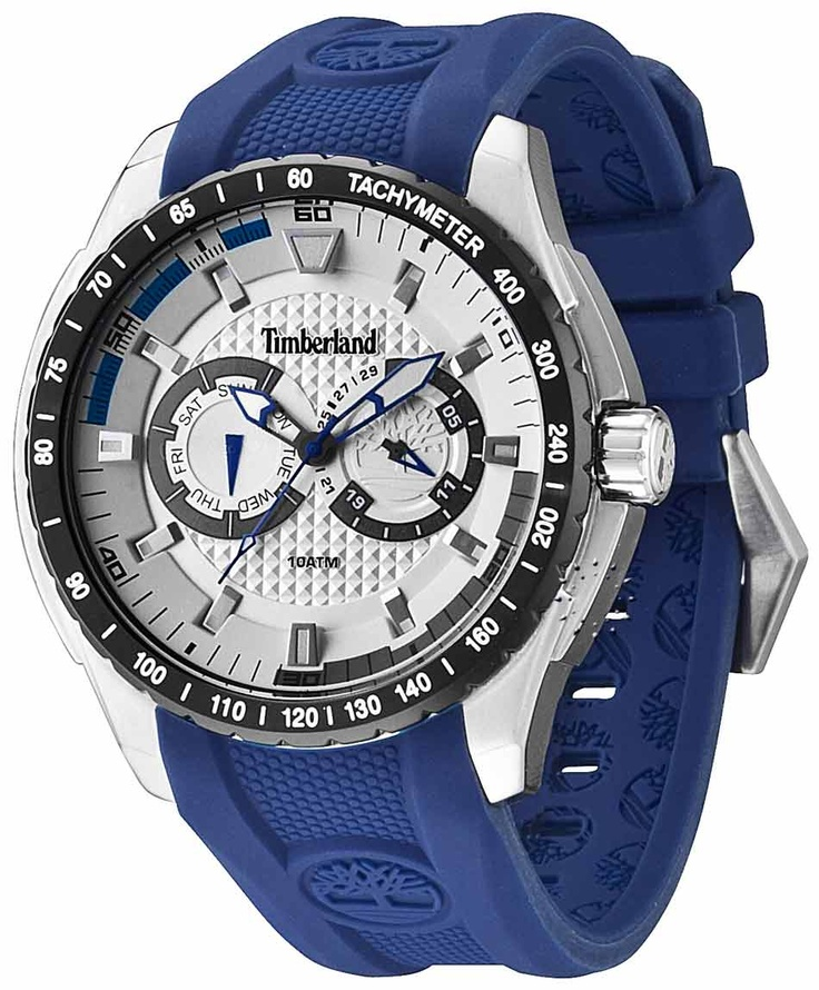 TIMBERLAND Juniper Blue Rubber Strap Μοντέλο: 13854JSTB-04 Τιμή: 142€ http://www.oroloi.gr/product_info.php?products_id=31646