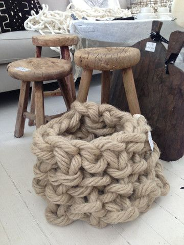 Oversized knitting