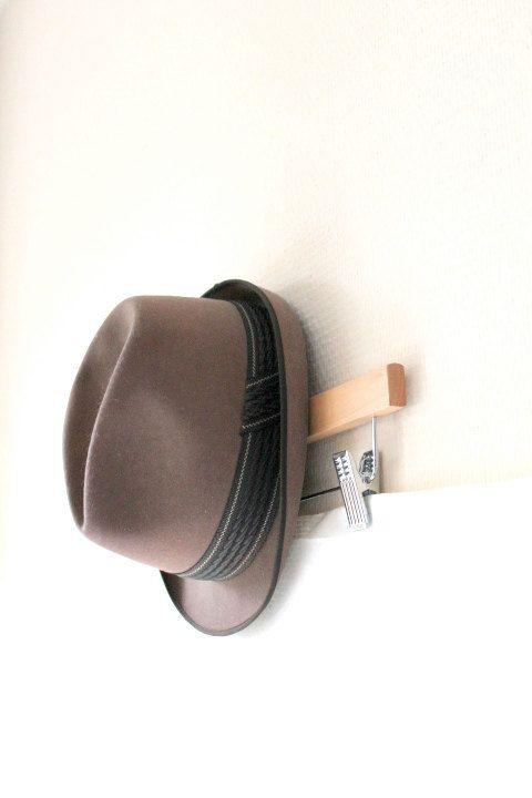 brown wool felt 60s hat for him- vintage brown/black accessory- men fashion- gift for teen boy- Jean Bourrel- size 58 via Etsy
