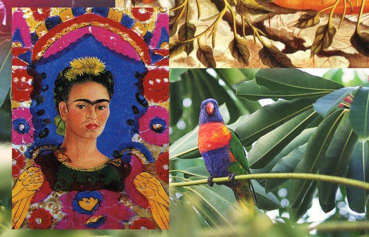 Frida Kahlo: Self Portrait Moodboard