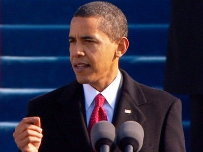 """VIDEO: Barack Obama delivers his inaugural address.U.S. President Barack Obama has rarely used the term, but in his inaugural address on 20 January 2009, he stated """"Our nation is at war, against a far-reaching network of violence and hatred."""""""