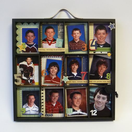 Love this for school pictures!  Must find this frame! Only problem is O is going to do two years of preschool......