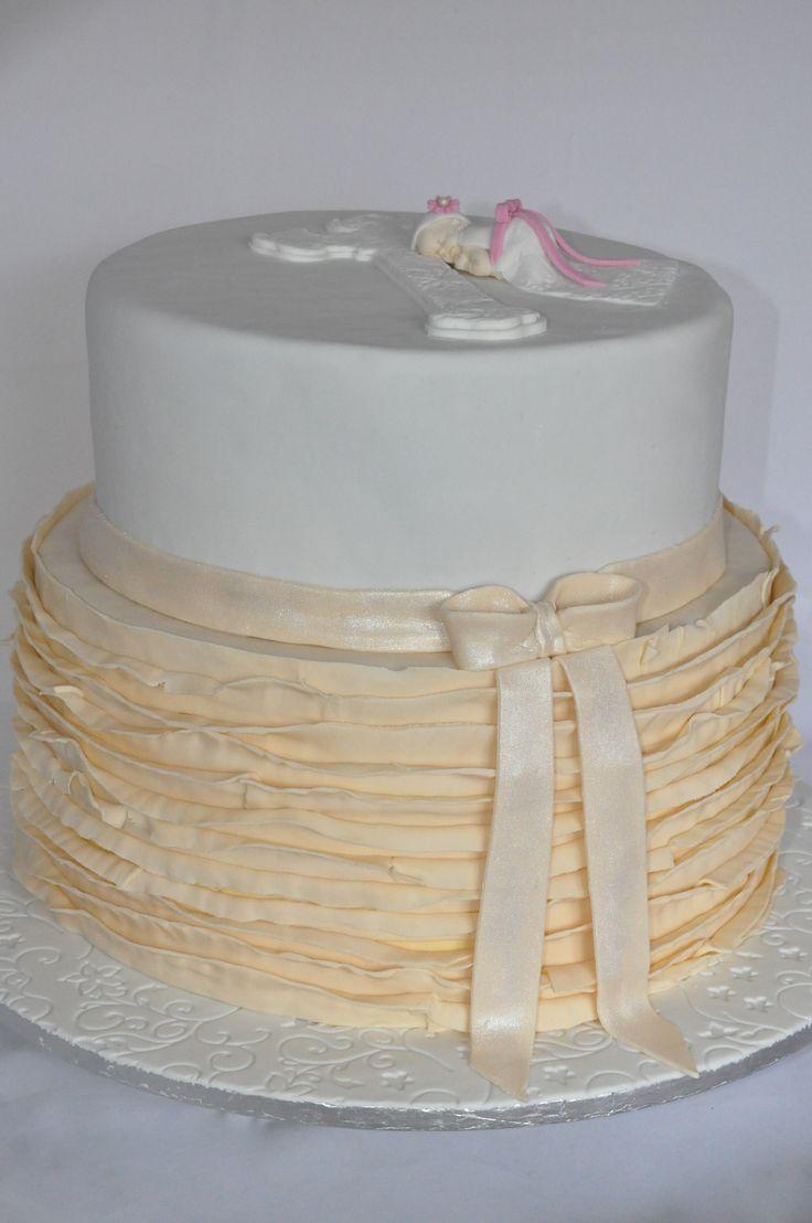 Ruffles Christening Cake