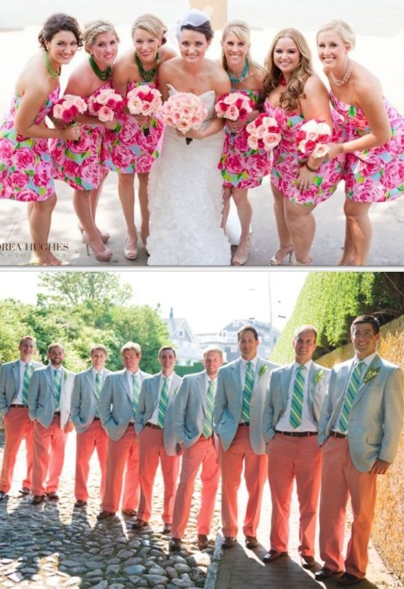 Preppy Wedding..not sure i like it to this extreme