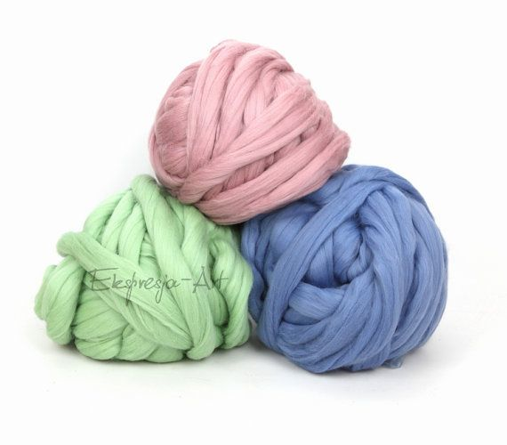 DIY wool blanket arm knitting big chunky yarn 51 colours to choose