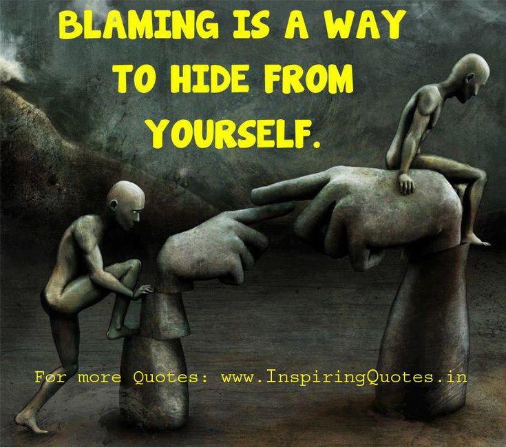 Blaming quote