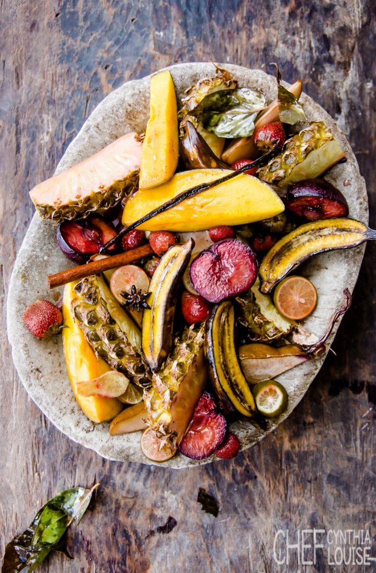 baked fruit, no sugar www.chefcynthialouise.com