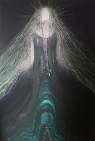 Keridwen Crone Mother  A4 Print by Tiana