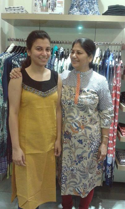 """Malbika shares this with us and says """"mom and daughter happily shopping at our store   daughter :"""" for the world you are a just a person. but for me you the world"""""""