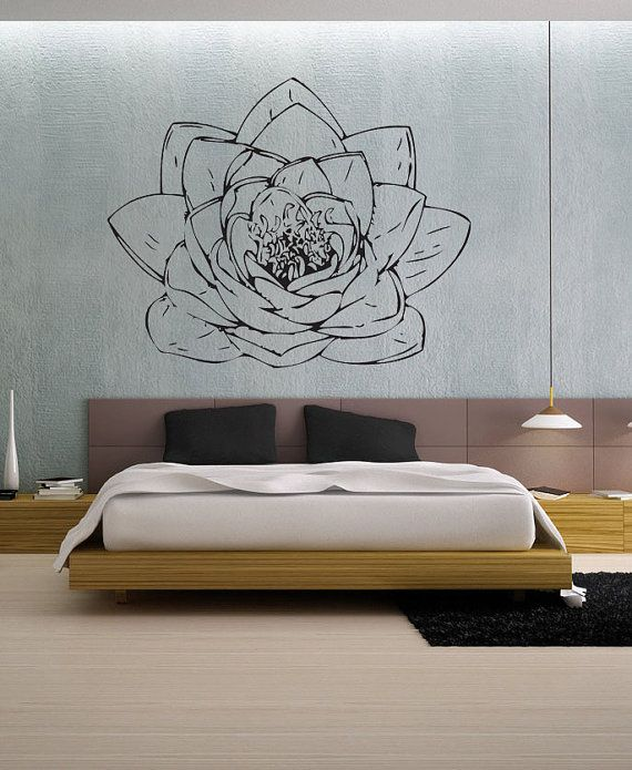 lotus blossom uber decals wall decal vinyl decor art sticker removable mural modern a186