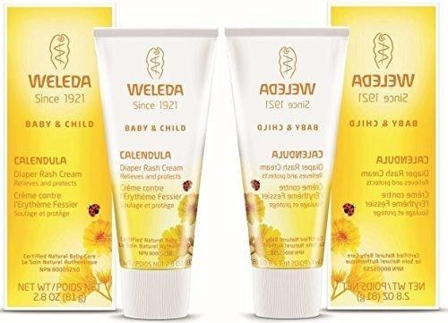 Weleda Calendula Diaper Care, 2.8-ounce (2 Pack)  Weleda's best-selling #Calendula #Diaper #Rash #Cream provides fast yet gentle relief and treatment of diaper rash. Rich and creamy, it's a natural, soothing barrier cream formulated with non-nano, pharmaceutical-grade zinc oxide to take nurturing care of irritation and rashes and protect your baby's skin.