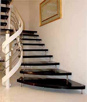 Moderne freitragende Treppe Granit