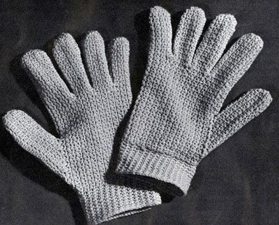 Easy Crocheted Gloves Pattern